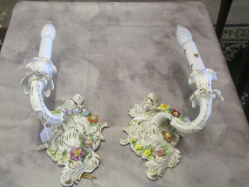 Appliques porcelaine de DRESDE