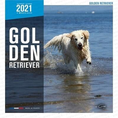 Calendrier 2021 Martin Sellier Golden Retriever