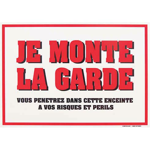 Plaque De Garde Martin Sellier