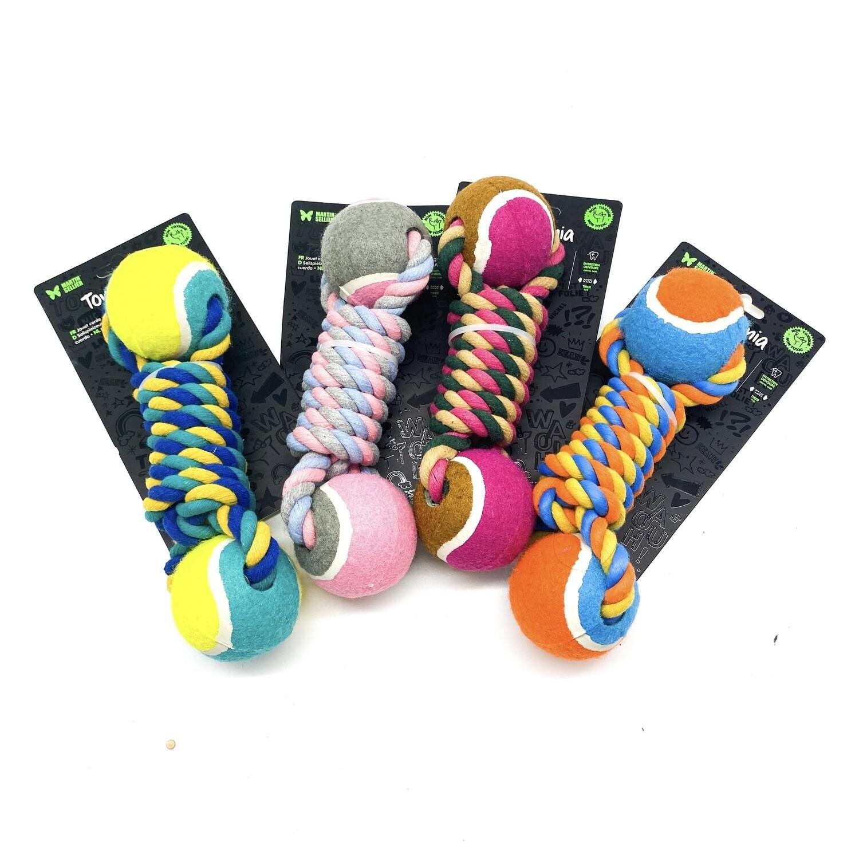Jouet corde et balle de tennis