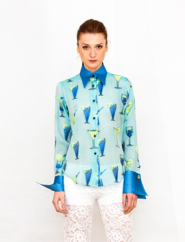 Limited Edition Shirt 100% Silk BELLAGRA-5497-7814-101