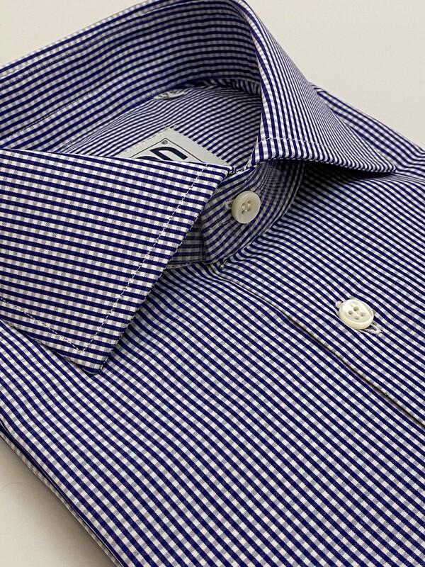 Classic 100% Cotton quadrettino blu scuro CLA