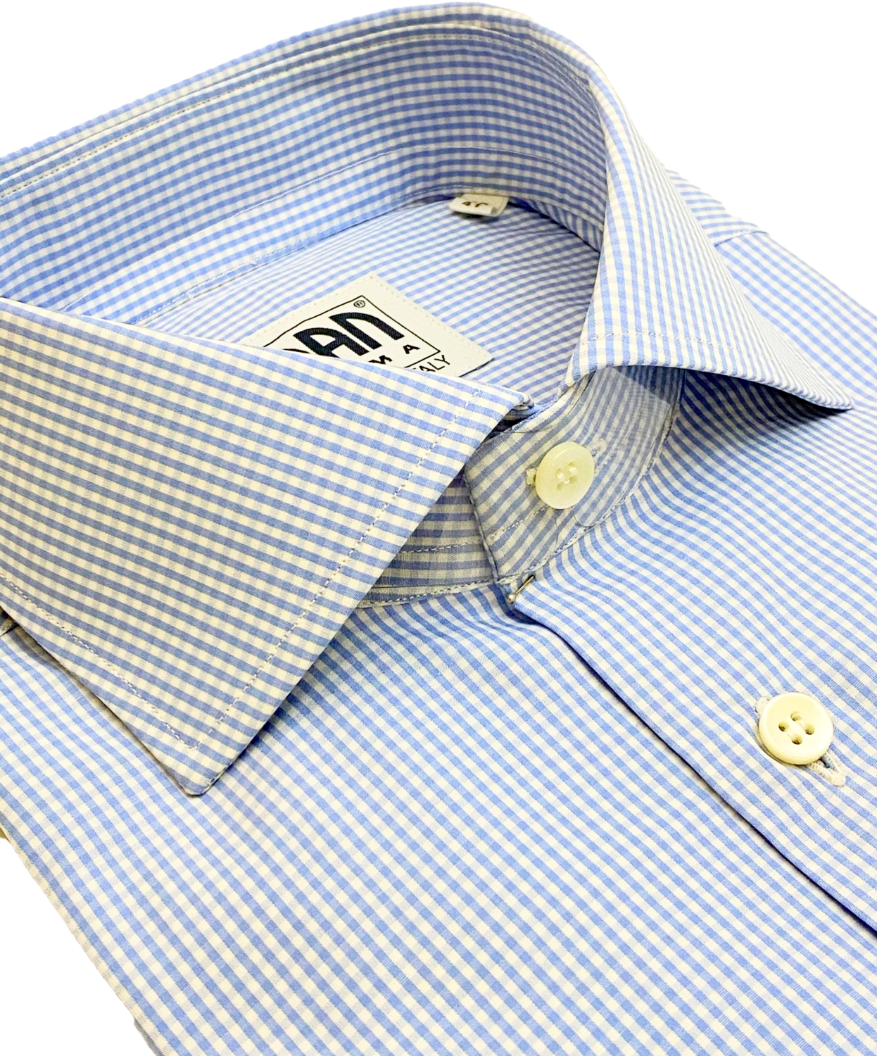 Classic 100% Cotton quadrettino blu chiaro CLA