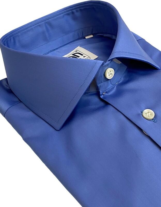 Exclusive shirt 100% Cotton namur azzurro CLA