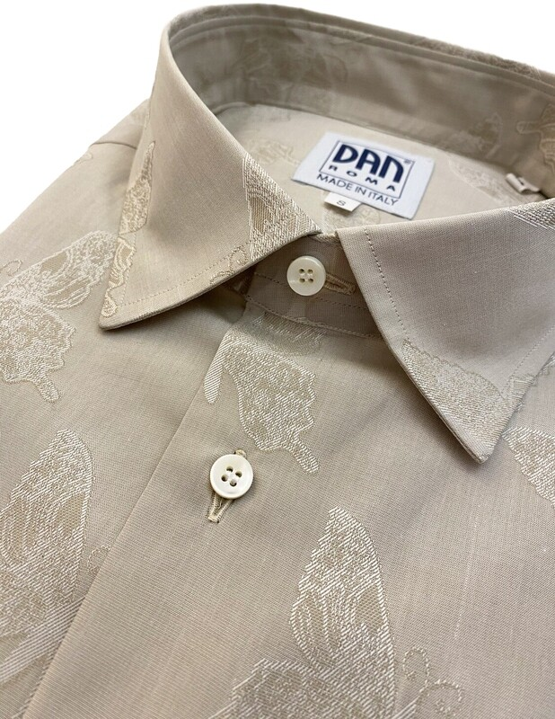 Limited Edition Shirt 100% Cotton farfalle beige LIM