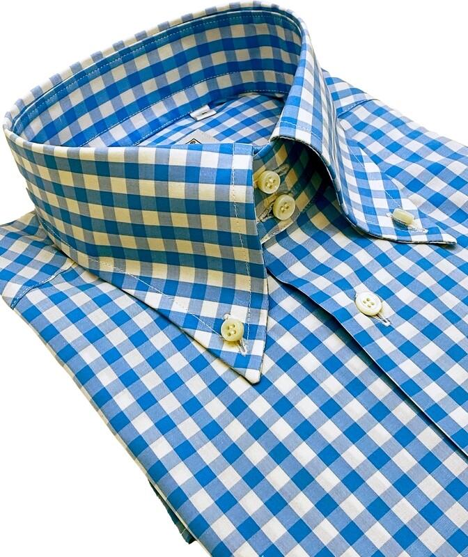 Casual 100% Cotton Quadrettoazzurro SPORT
