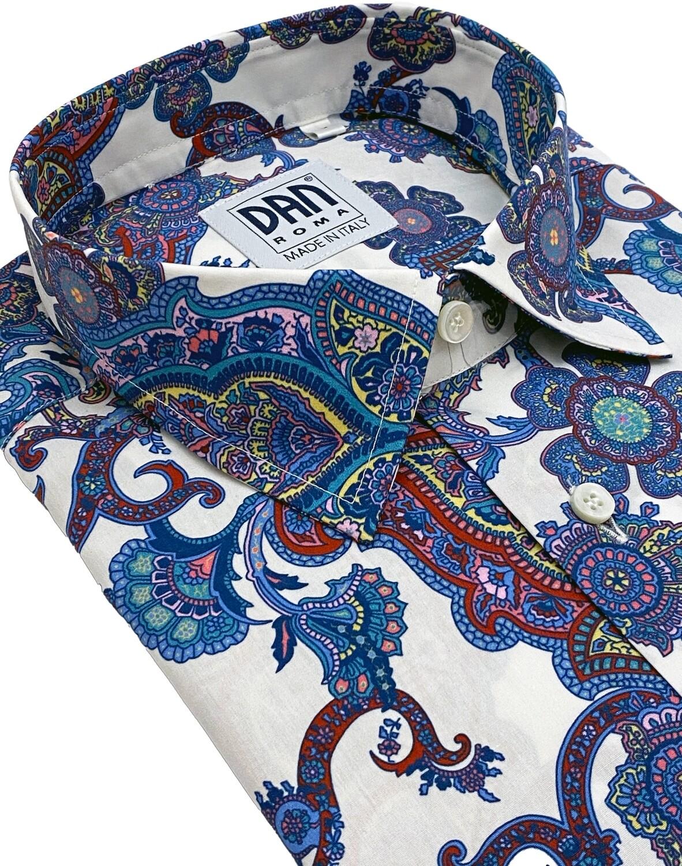 Limited Edition Shirt 100% Cotton X-ZODIAC DISEGNI CELESTE