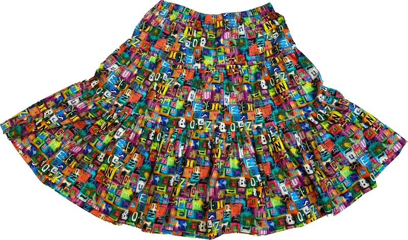 Limited Edition Skirt 100% cotton X-POP-4930-101B GONNA
