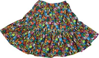 Limited Edition Skirt 100% cotton X-POP-4930-101B GONNA