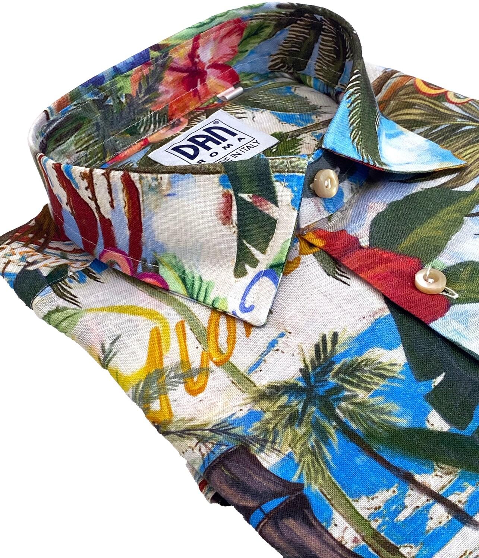 Limited Edition Shirt 100%Linen X-LINO-4943-101A UOCAM