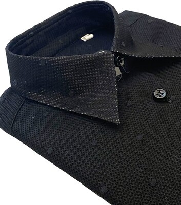Exclusive Shirt 100%Cotton Esprit de pois nero DOCAM