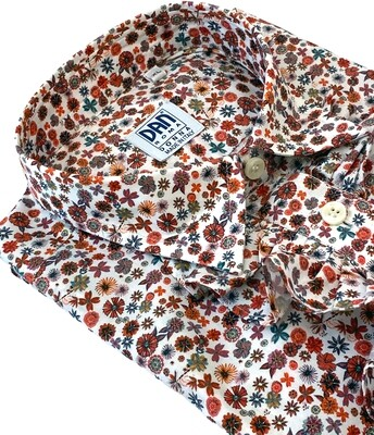 Limited Edition Shirt 100% Cotton fiorellini rouches DOCAM