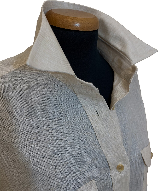 Limited Edition Shirt 100% Linen Safari Beige Donna