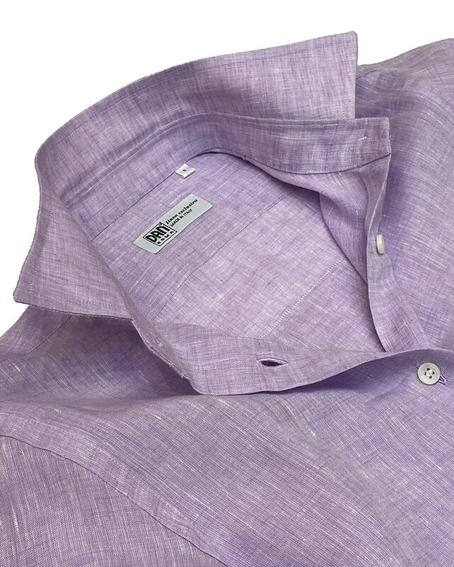 Chemisier Limited Edition 100% Linen violetto Chemisier