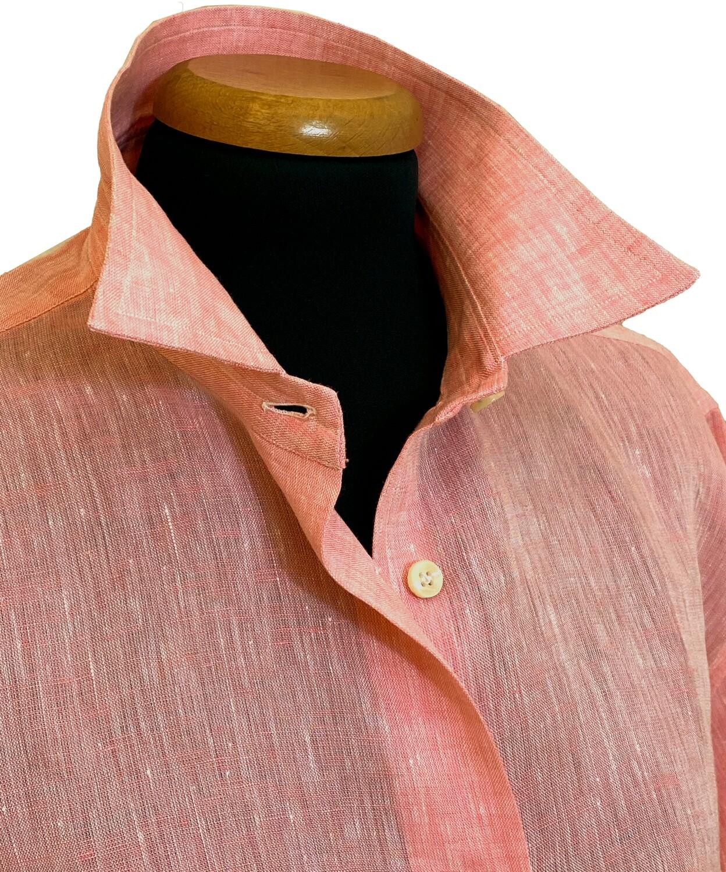 Limited Edition Shirt 100% Linen Arancio Donna