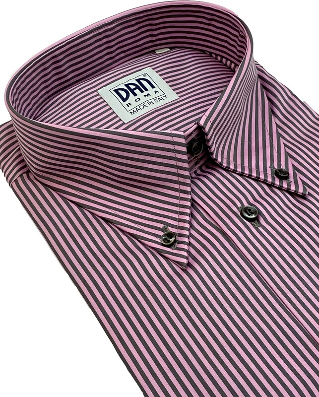Exclusive shirt 100% Cotton Namur Rosa Grigio SPORT