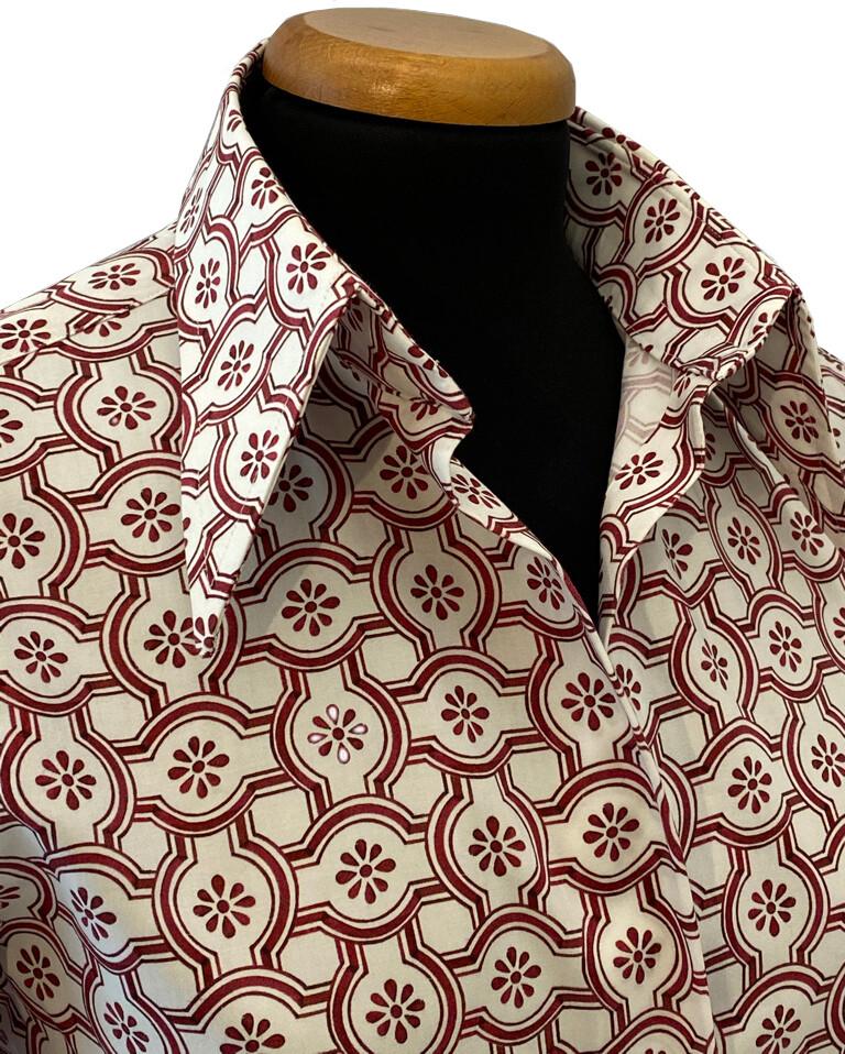 Exclusive Shirt 100% Cotton Mattonella rossa DONNA