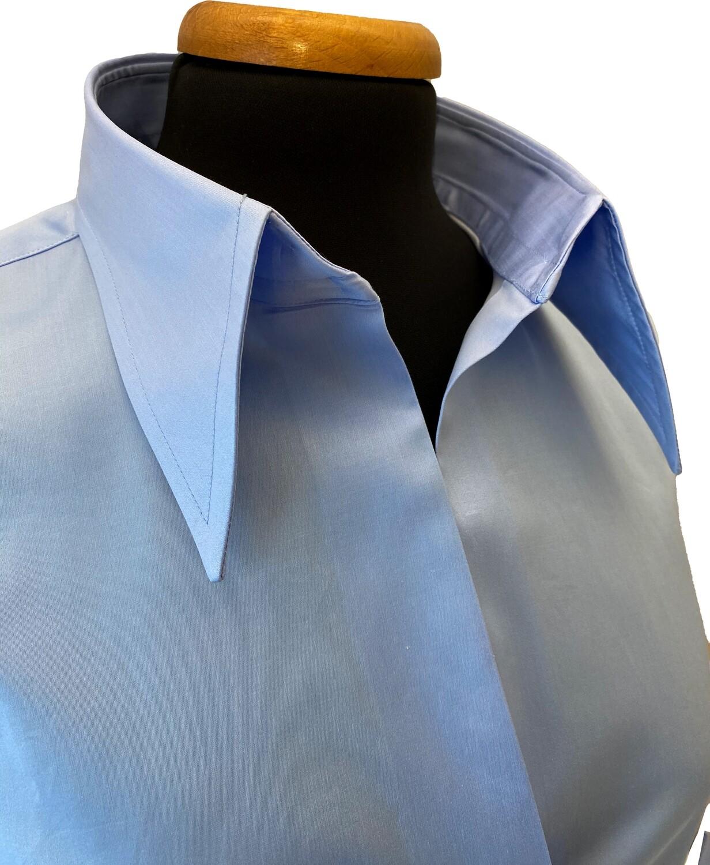 Exclusive Shirt 100% Cotton  Capua namur celeste DONNA