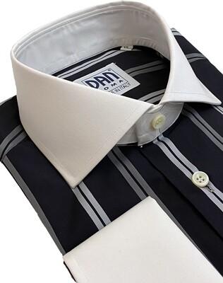 Exclusive 100% Cotton Riga raso nera/grigia/bianca CPB