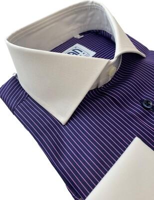 Exclusive shirt 100% Cotton Namur righine viola CPB
