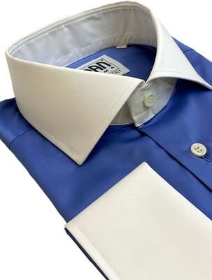 Exclusive shirt 100% Cotton Namur azzurro CPB