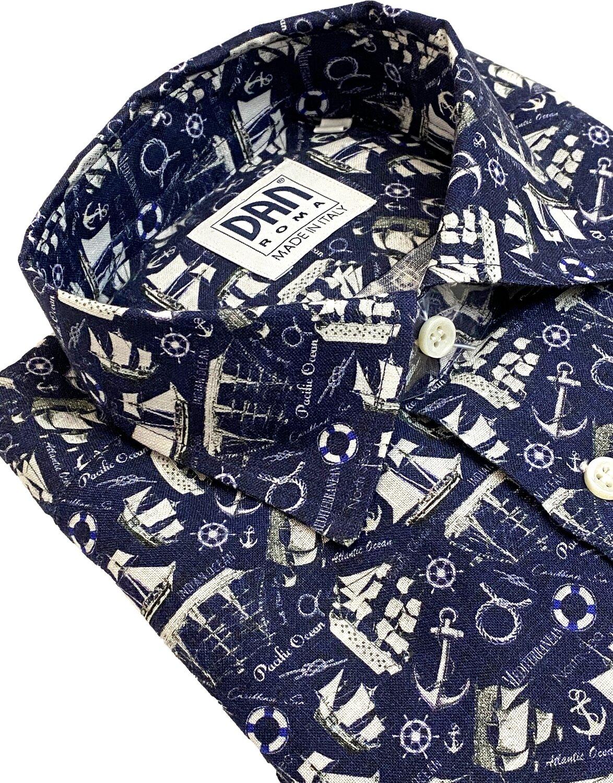 Limited Edition Shirt 100% Linen Navi LIM
