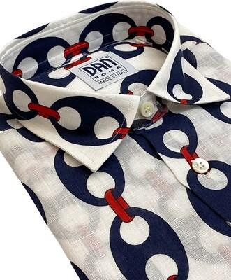 Limited Edition Shirt 100% Linen Catene Bianco LIM