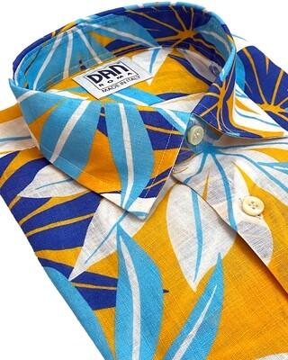 Limited Edition Shirt 100% Linen Palme giallo cel LIM
