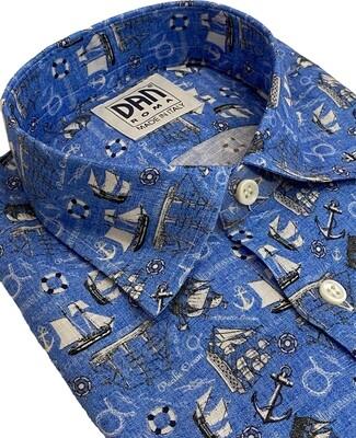 Limited Edition Shirt 100% Linen Navi UOCAM