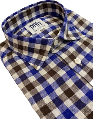 Limited Edition Shirt 100% Linen Quadrocelmar LIM