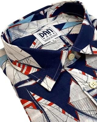 Limited Edition Shirt 100% Linen Vele blu LIM