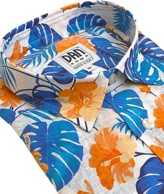 Limited Edition Shirt 100% Linen fiori Felci LIM