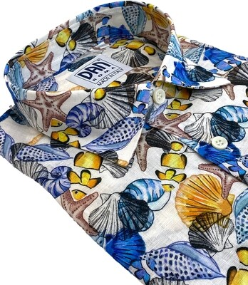 Limited Edition Shirt 100%Linen X-LINO-MAR CAM