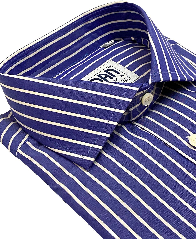 Classic 100% Cotton fondo blu riga bianca CLA