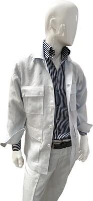Exclusive 100% Linen Blue Jacket no trousers