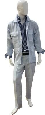 Exclusive 100% Linen Blue Suit
