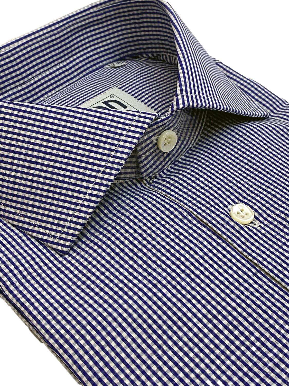 Classic 100% Cotton Classic quadrettino blu