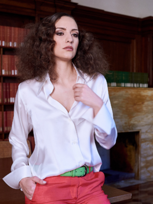 Limited Edition Shirt 100% Silk CapuaBianca Donna