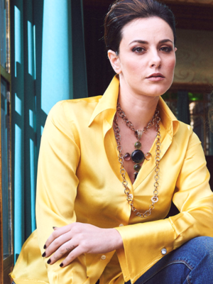 Limited Edition Shirt 100% Silk CapuaGialla Donna