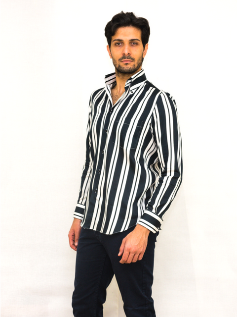 Exclusive shirt 100% Cotton Rigonibianconero SPORT
