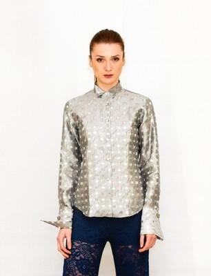 Limited Edition Shirt 100% Silk ARGENTO DONNA