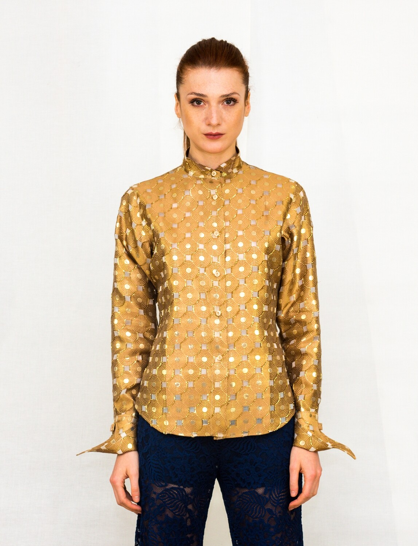 Limited Edition Shirt 100% Silk ORO DONNA