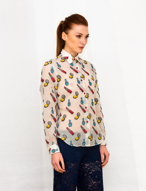 Limited Edition Shirt 100% Silk Rossetti Donna