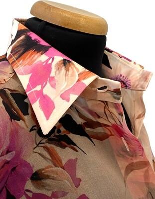 Limited Edition Shirt 100% Silk SetaFioriRosa DONNA