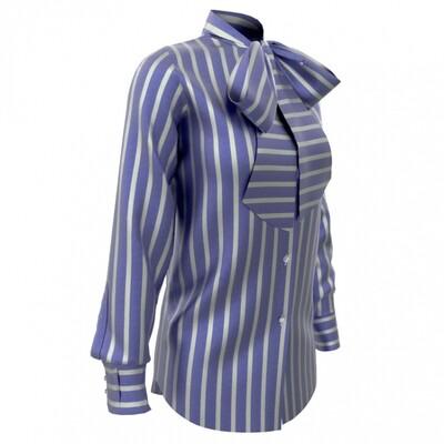 Limited Edition Shirt 100% Crepe de chine rigoni blu DONNA