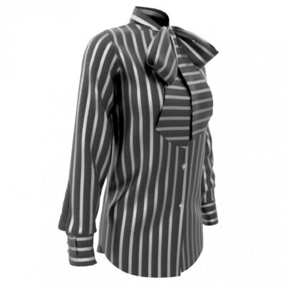 Limited Edition Shirt 100% Crepe de chine rigoni nere DONNA