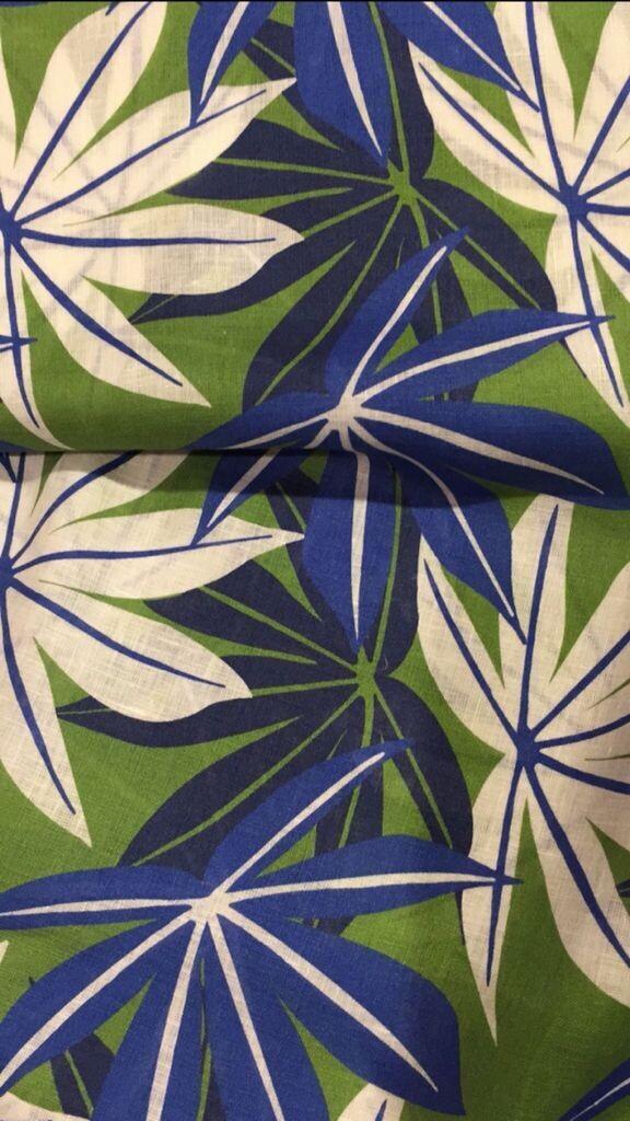 Limited Edition Shirt 100% Cotton foglie blu/verdi LIM