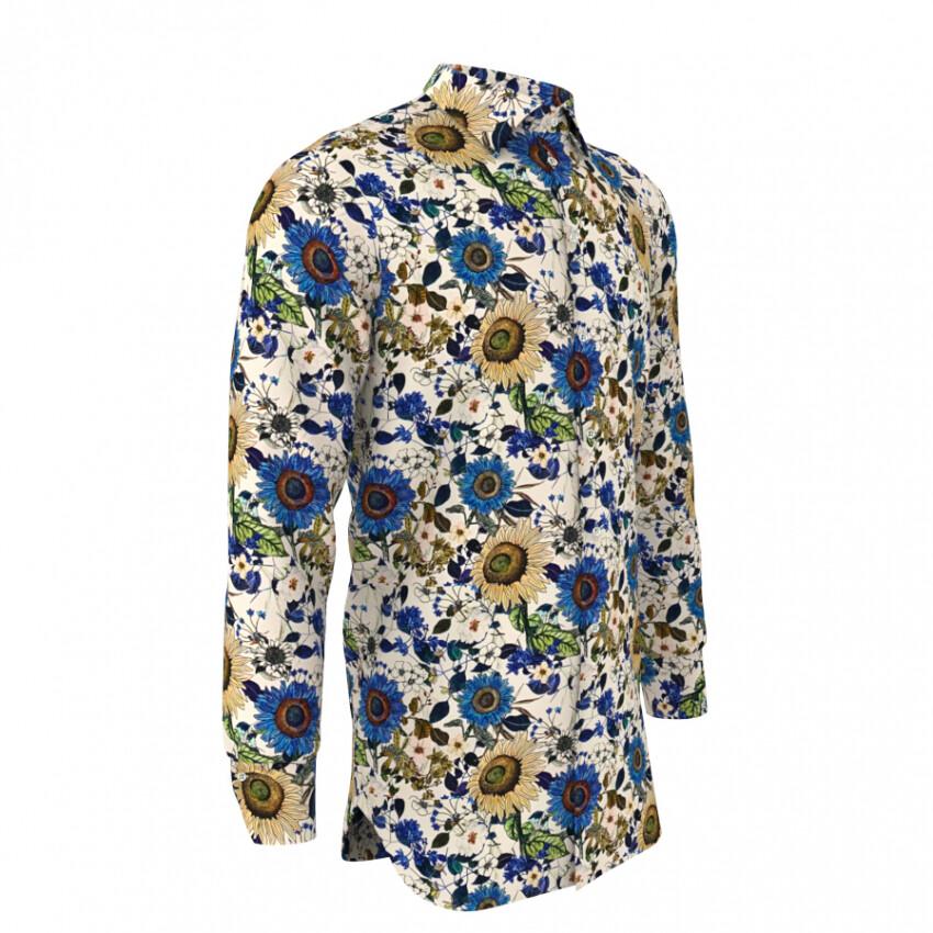 Limited Edition Shirt 100% Cotton Girasoli LIM
