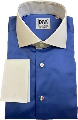 Exclusive shirt 100% Cotton Namur azzurro CPB  ITA