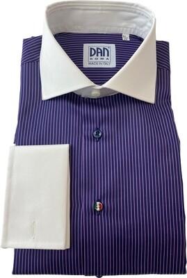 Exclusive shirt 100% Cotton Namur righine viola CPB ITA